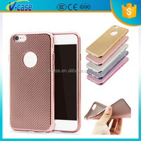 Top quality woven pattern electroplated TPU mobile phone case for iphone 5/iphone 5s