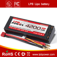 Hard case RC lipo battery 4200mAh 7.4v 35C