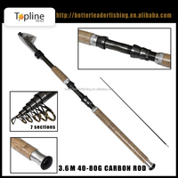 in stock! cheap wholesale 100% high carbon surf fishing rod pole