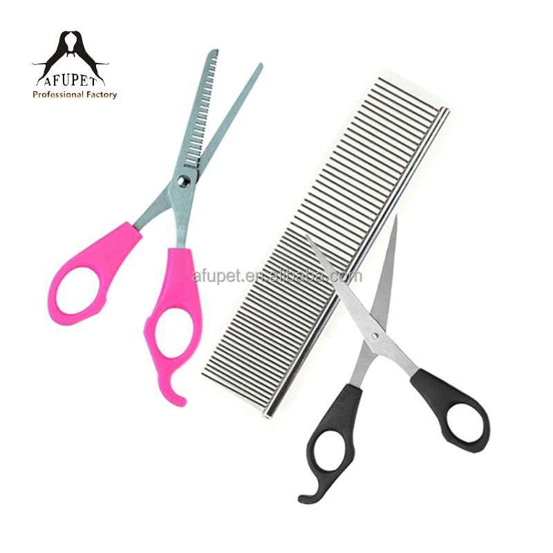 Rubber Handle Material Thinning Barber Scissors