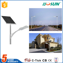 low price outdoor ip65 20 watt integrated garden solar panel led street light