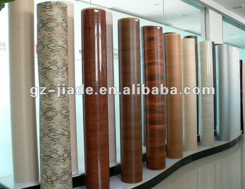 PVC Wood Grain Decorative Sheet for Vacuum Membrane Press / Lamination / Wrapping