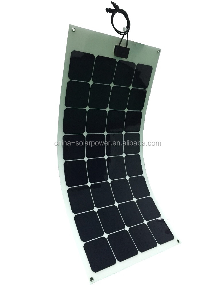 high efficiency new developed 100w sunpower flexible solar panel
