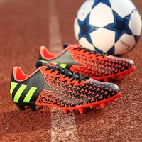 low top soccer football shoes outdoor high ankle best quality soccer shoes size for kids and adult