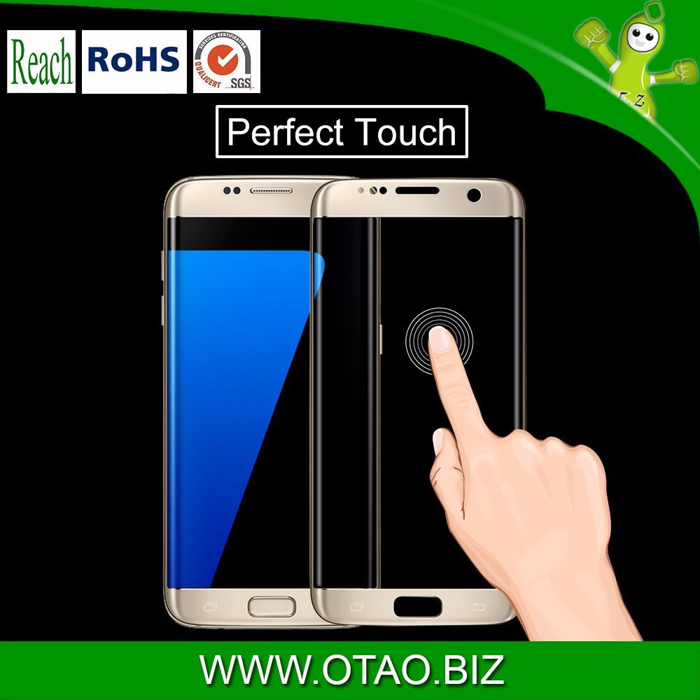 100% Precisely Size,100% Perfect Fit S7 Edge Beveled Edge Reinforced Glass Screen Protector