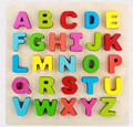 Colorful handmade small wooden cute alphabets for sell