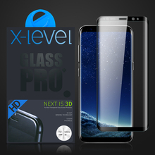 X-Level High Quality 3D Curved Tempered Glass For Samsung Galaxy S8 Full Screen Protector, For S8 Plus Tempered Glass