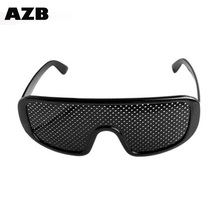 AZB 2017 High Quality pinhole Small Hole Myopia Eyewear Black Anti Fatigue glasses made in China