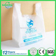 Manufacturer custom shopping packaging t-shirt bag printing biodegradable plastic bag