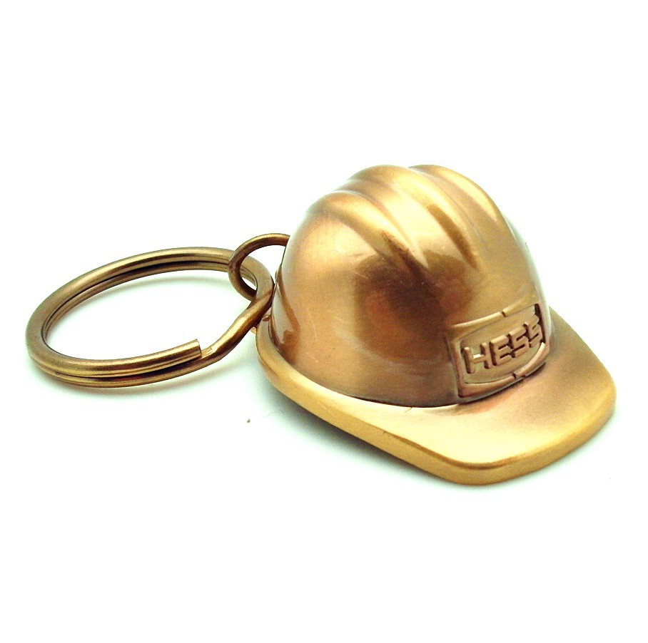 25 Experience Years OEM Factory Direct Sale Custom 3D HELMET GOLD KEY CHAIN KEY RING