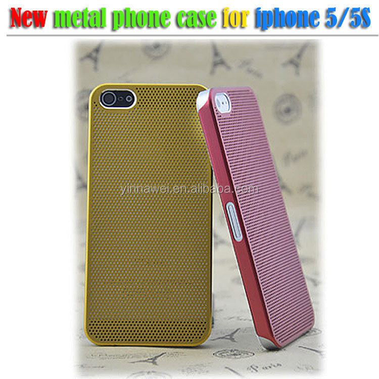 0.3mm only Ultra Thin Titanium Alloy metal mesh case for iphone5