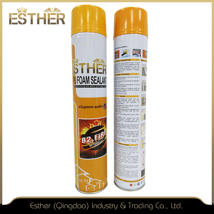 Stable Foam, Thixotropic Fire-Retardant Pu Foam Sealant For Insulating The Electrical Outlets And Water Pipes