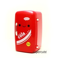 Hot sale ABS Red color Mini fridge shape unique design office container