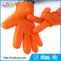 HANCHUAN Silicone Heat Resistant Grilling BBQ Glove silicone heat-resistant baking gloves Silicone bbq gloves