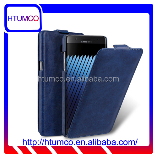 Blue Flip MOBILE PHONE CASE PU Leather case for Samsung Galaxy Note 7