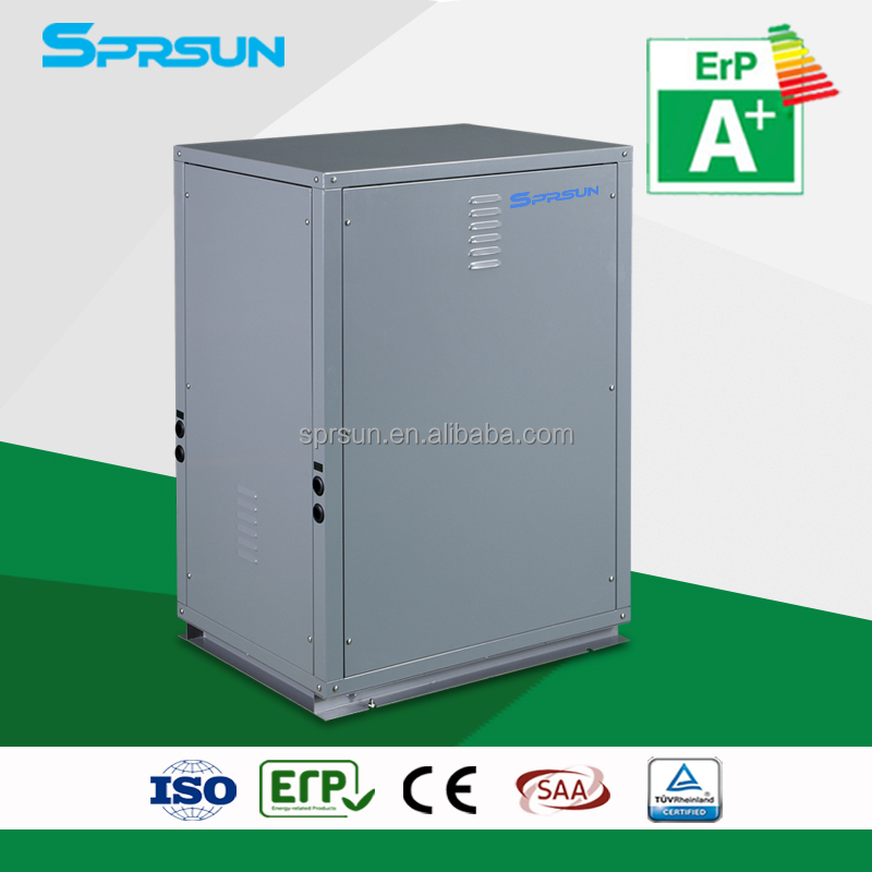 ground to water, water to water heat pump air conditioner, high COP model