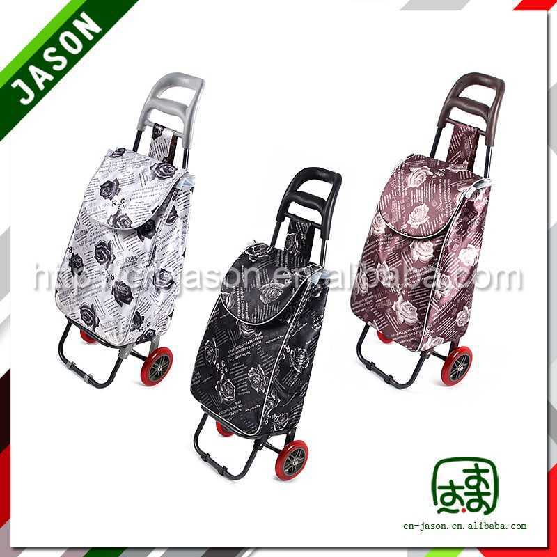 steel luggage cart folding box trolley on wheels