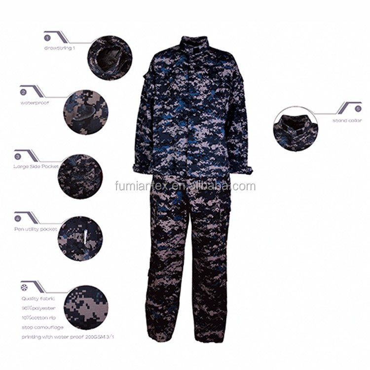 Widely Used China Made Camouflage Military Uniform