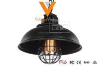 Loft brooklyn vintage industrial caged pendant light black
