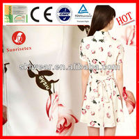 Anti Mosquito Printed Chiffon Fabric Flowers for Dresses