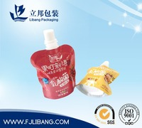 pouch with spout for fruit juice packing,jelly bag