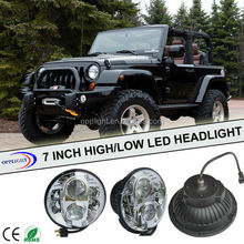 High power halo 7 inch round led headlight for offroad