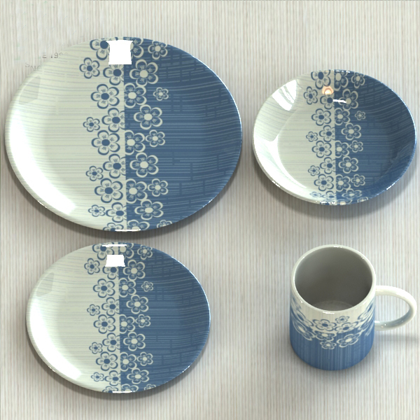 China factory simple and elegant crockery 16pcs ceramic dinner set