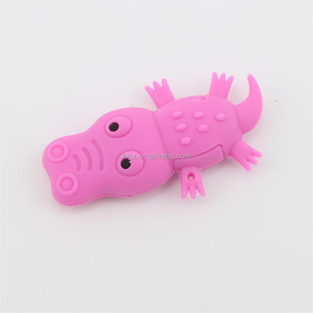 High quality 3d usb stick cartoon animal shape crocodile usb flash drive 8gb 16gb
