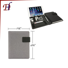 Custom Newest A4 A5 A6 A7 Leather Canvas Portfolio For Ipad And PU Diary&Journal PU Leather Notebook