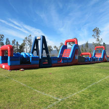 2013 Cheap PVC Blue Giant Inflatables Obstacle Course