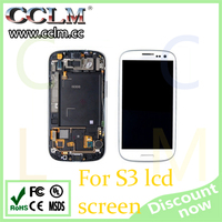 cell phone parts from China for samsung galaxy s3 lcd touch screen, original lcd display for galaxy s3