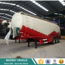3 Axles 70CBM Bulk Powder Cement Material Tanker Truck Semi Trailers for Sale