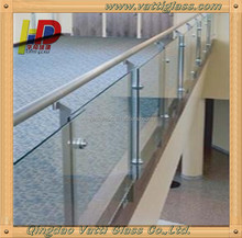tempered glass fence panels/curved glass panels/tempered glass wall panel