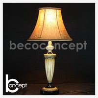 65 CM Modern White Antique Burlap Shade Resin Table Lamp