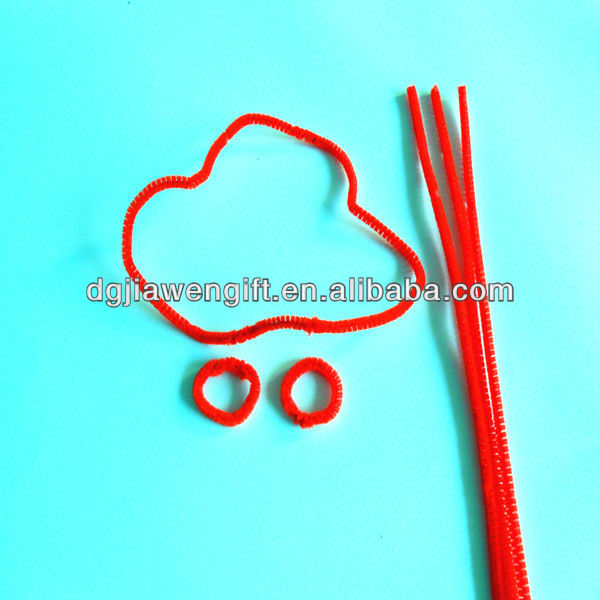 Education Craft toy 6mm Red Straight Chenille Stem for kids