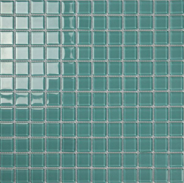 Square Shape Green Color Swimming Pool Glass Mosaic Tile