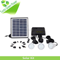 11V Solar Energy Kit with 3pcs 0.9W LED Bulb USB Port to Charge Mobile Phone