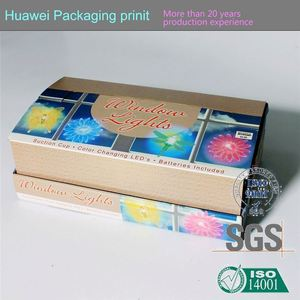 Corrugated boxes supplier coated paper paper display box eyelash magnetic box