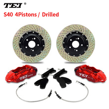 TEI S40 Drilled Disc Performance perimeter casting car disc brake rotor