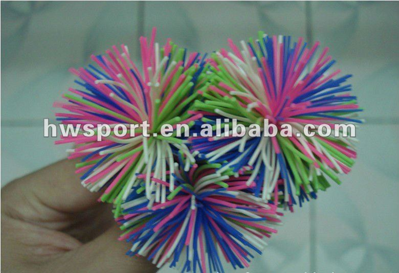 Fashion bushy hair spiky rubber ball