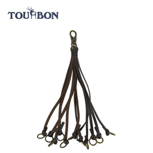 TOURBON 2016 Hot Sales Top Grain Genuine Leather Game Carrier Hunting Equipment With 12 Loops
