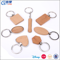 Promotion gift heart shape wood keychain OEM carving custom wood keychain