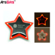 Customized Bulk Hot Sale Promotion product plastic led star badge