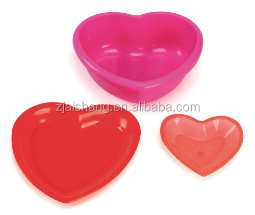 American Fashionable First Rate High Quality food grade Heart Shape plastic Fruit Dishes bpa free