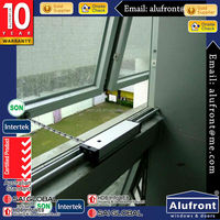 Australia standard as2047 high quality american style double glazed wooden aluminum window with grill design