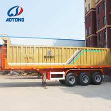 High tensile 40cbm suqare bucket dump trailer for mining ore transport