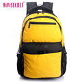 vivisecret most stylish fashion nylon backpack comfortable secure computer yellow backpack