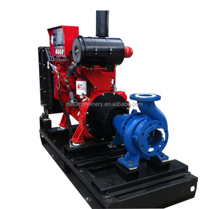 High pressure 300 m3/h skid mounted diesel engine water supply pump