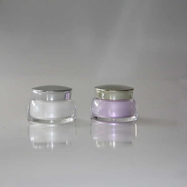 PET cosmetics packaging 50 ml old round acrylic bottle cream cosmetic facial cream jars