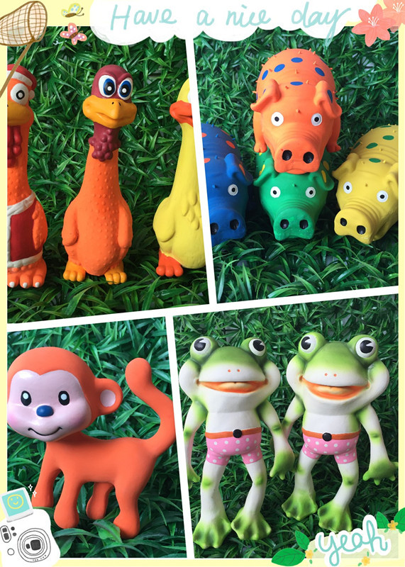 squeaker toys duck chicken pig goose frog sexy shape pet toy products